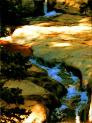 Outdoor Lights Drawing - Winding River by Howard Perry