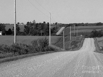 Gravel Road Photograph - Winding Road by David Bearden
