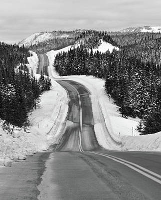Winding Winter Roads Print by Peter Bowers