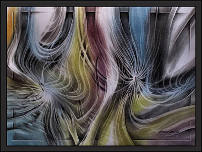 Pastel - Windispersedseedscape 2010  by Glenn Bautista