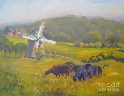 Laurel Ridge Farm Painting - Windmill At Laurel Ridge by B Rossitto