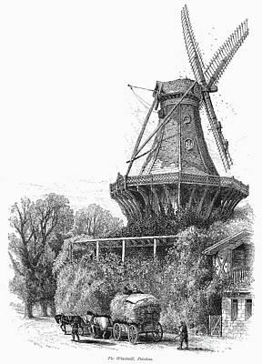 Windmill, C1870 Art Print