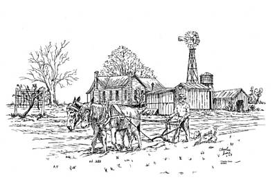 Windmill Print by Charles Sims