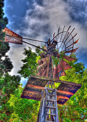 Windmill Hdr Art Print