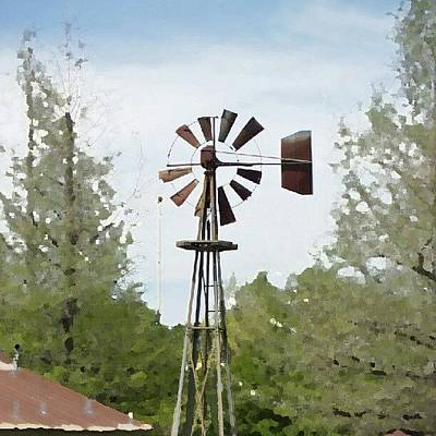 Summer Wall Art - Photograph - Windmill II, You Can Sell Your by James Granberry
