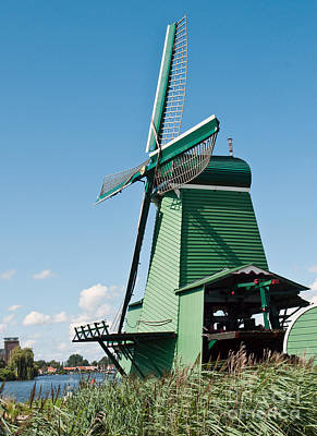Old Mill Scenes Photograph - Windmill In Holland by Jim Chamberlain