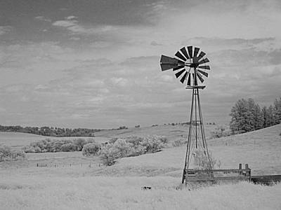 Photograph - Windmill In Infrared by HW Kateley