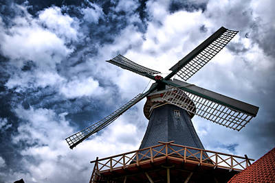 Art Print featuring the photograph Windmill In Northern Germany 2 by Edward Myers