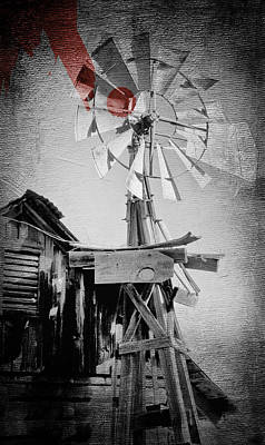 Windmill Art Print by James Bethanis
