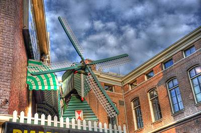 Buckingham Palace Digital Art - Windmill Of Amsterdam by Barry R Jones Jr