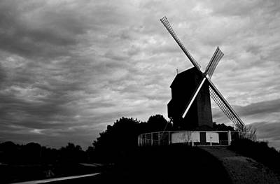 Photograph - Windmill On A Cloudy Day. by David Freuthal