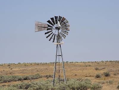 Photograph - Windmill On A Hill by Angi Parks