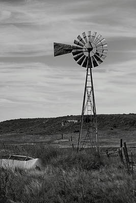 Windmill On The Plains Art Print