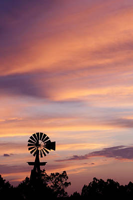 Windmill Sunset 5 Original