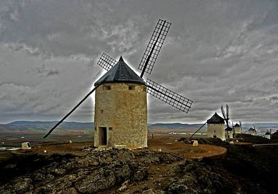 Photograph - Windmills - Consuegra by Juergen Weiss