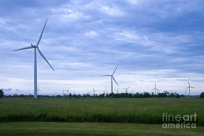 Eolienne Photograph - Windmills Eoliennes by Nicole  Cloutier Photographie Evolution Photography