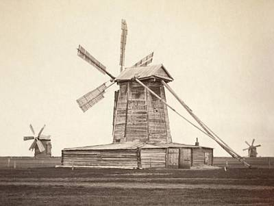Windmills Near Omsk, Siberia Art Print by Everett