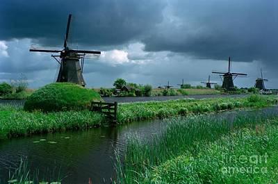 Windmills Of Kinderdijk  Art Print by Serge Fourletoff
