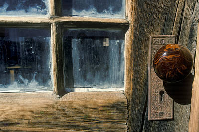 Photograph - Window And Door Knob by Joe  Palermo