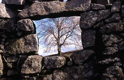 Dartmoor Photograph - Window At Swincombe Dartmoor by Rachel Burch