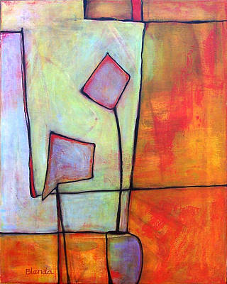Warm Colors Painting - Window Dressing by Blenda Studio