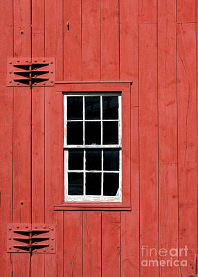 Photograph - Window In Red Wall by Sabrina L Ryan