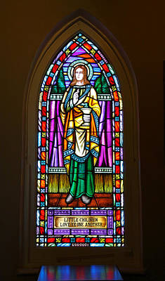 Window In Trinity Church V Art Print