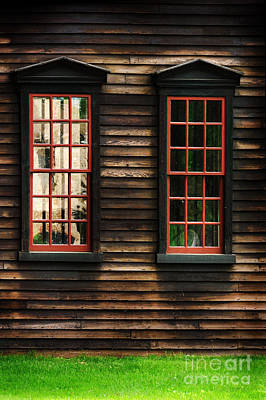 Window Of New England Art Print by HD Connelly