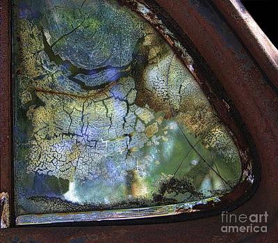 Rural Decay Photograph - Window Patterns by Sari Sauls