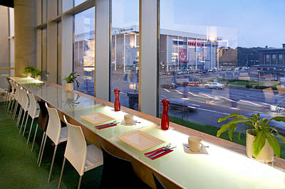 Upscale Photograph - Window Seating In An Upscale Cafe by Jaak Nilson