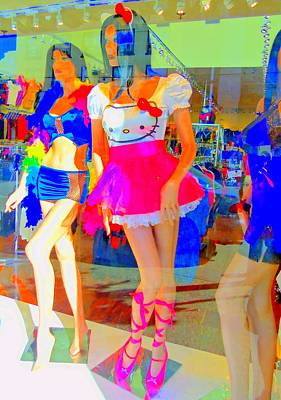 Hello Kitty Photograph - Window Shopping Hello Kitty by Randall Weidner