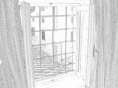Window To History Art Print by Michael Belgeri