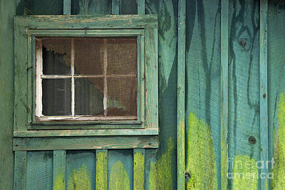 Cabin Window Photograph - Window To The Past - D007898 by Daniel Dempster