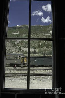 Photograph - Window To The Rail Yard by David Bearden