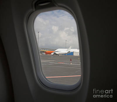 Airline Industry Photograph - Window View On An Airplane by Jaak Nilson