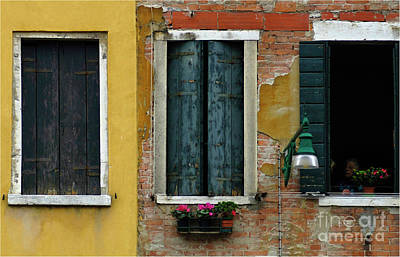 Window Wall Venice Art Print by Bob Christopher
