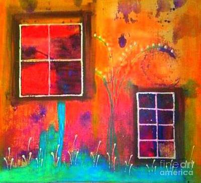 Digital Art - Window Watching  Outside Looking In by Angela L Walker