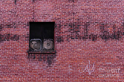 Window With Fans Art Print by HD Connelly