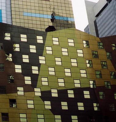 Photograph - Windows At Times Square by Christy Usilton