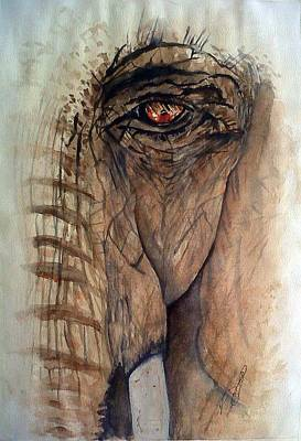 Painting - Windows I Elephant by Paula Steffensen