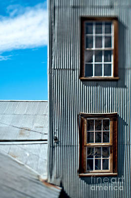 Windows In A Wall With Metal Siding Art Print by Eddy Joaquim