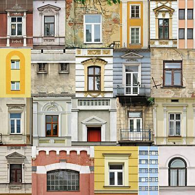 Residential Structure Photograph - Windows by Jaroslaw Grudzinski