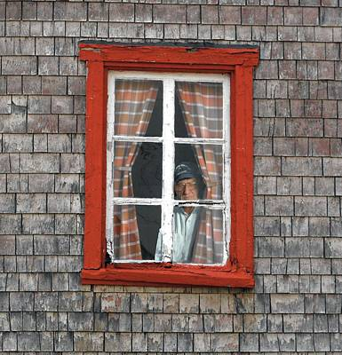 Photograph - Windows Man In Window  Why Is He Watching Me by William OBrien