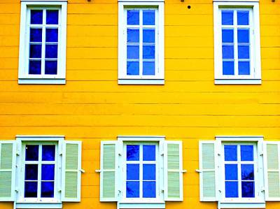 Windows On Yellow Print by Randall Weidner