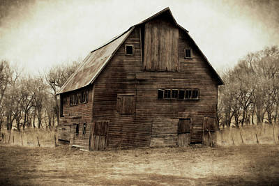 Barnyard Digital Art - Windows4 by Julie Hamilton