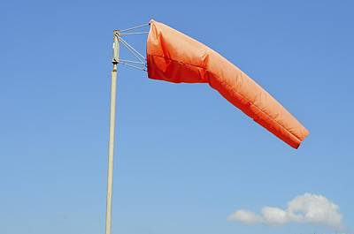 Windsock In An Airfield Art Print by Photostock-israel