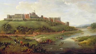 Royal Painting - Windsor Castle by Hendrick Danckerts
