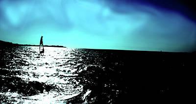 Windsurfing Greece Art Print