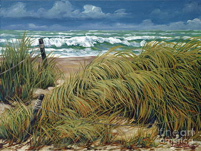 Seagrass Painting - Windswept by Danielle  Perry