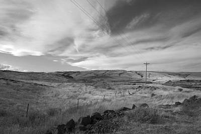 Photograph - Windswept Hills Bw by Kathleen Grace